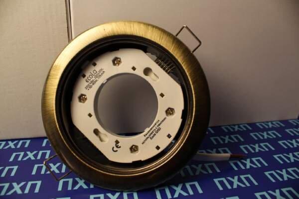 Продажа светльника Ecola GX54 H4 Черная бронза фото 2